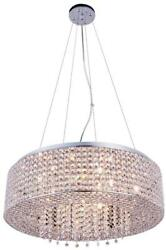AMELIE PENDANT CONTEMPORARY 10 LIGHT ADJUSTABLE HANGING HEIGHT CHROME IRON $919.00