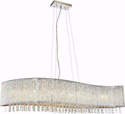 INFLUX PENDANT CONTEMPORARY ADJUSTABLE HANGING HEIGHT 8 LIGHT CRYSTAL CHR $1169.00