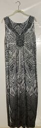 Apt9 Maxi Dress Size 1X Stretch Sleeveless Mini Studs Crochet Must See $21.00