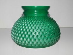 VINTAGE MILK GLASS HOBNAIL GREEN STUDENT LAMP SHADE $24.99