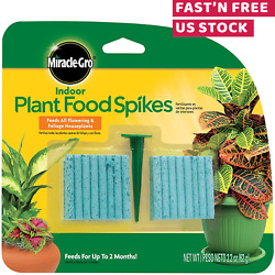 Indoor Fertilizer Plant Food With 48 Spikes Fast Grow Plants Miracle Gro 1 Pack $9.83