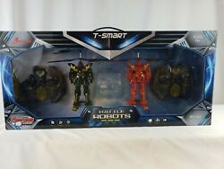 Riviera RC 3 CH Battle Robots with Gyro 2Pack Black Red Fighting Game Air Combat $39.99