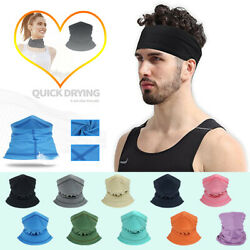 Cooling Neck Gaiter Tube Scarf Face Mask for Motorcycle Cycling Hunting Bandana $7.96