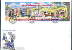 DISNEY GUYANA 1999 101 DALMATION RAILROAD SHEET ON FIRST DAY COVER $12.95