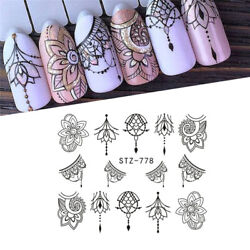 13 Sheets Nail Stickers Mixed Designs Water Transfer Nail Art Sticker Decal DIY $2.75