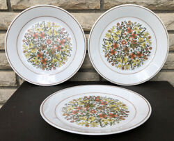 3 Corelle Indian Summer 10 1 4quot; Dinner Plates Made in the USA vtg Discontinued $24.99