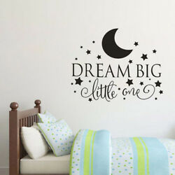 Dream Big Little One Wall Decal Quote Vinyl Wall Art Stickers Kids Bedroom Decor $2.41