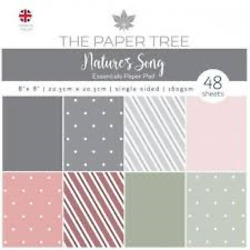 THE PAPER TREE 2 paper pads 8 X 8 NATURE#x27;S SONG ONE TOTAL 88 SHEETS $16.00