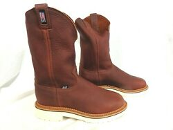Justin Men#x27;s Work Boots Flagstone 4274 USA Made 11quot; Whiskey Pitstop was $180 $120.00