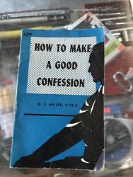 CATHOLIC BOOK LIGUORIAN PAMPHLET CHRISTIAN TRACT 1961 HOW MAKE GOOD CONFESSION $6.00