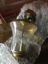 Vintage Chandelier Brass amp; Glass $75.00