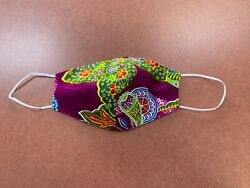 Paisley Face Mask Beautiful Virginia USA Made One Layer Cotton Exotic Colorful  $4.89