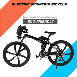 26'' Folding Electric Bike Mountain Bicycle Ebike Shimano 21 Speed Shifter Best $634.99