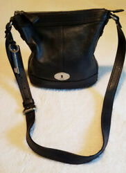 Fossil Maddox Crossbody black leather purse  $29.00