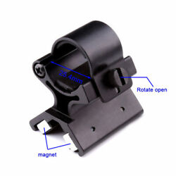 DIY Strong Magnetic X Tactical Flashlight Mount Bracket Holder For Torch 23 26mm $18.99