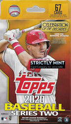 2020 Topps Baseball Series 2 Factory Sealed 67 Card Hanger Box Possible Autos $16.99