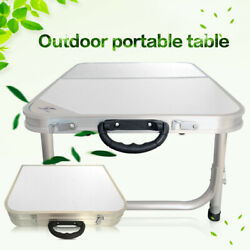 White Portable Adjust Folding Table For Outdoor Picnic Party Garden Camping Desk $33.86