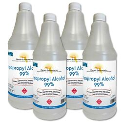 ISOPROPYL ALCOHOL 99% High Purity 1 Gallon - Pack of 4 Quarts - Made in the USA $37.00