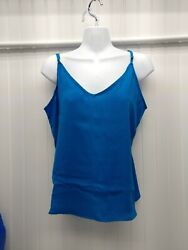 NWT Womens Target A New Day Camisole Top Adjustable Straps Tank Blue Sz Medium $7.97