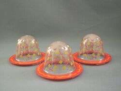 Evenflow Exersaucer Spring Cap Cover Lot of 3 Replacement Parts Clear Dome $9.99