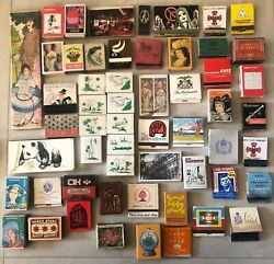 Lot of 100 Vintage Collectibles Match Boxes Matchbooks $29.00
