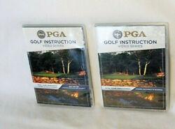 2 PGA Golf Instruction DVD Series Off The Tee amp; Power Accuracy Scoring TESTED $18.75