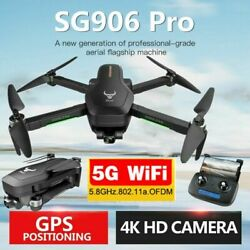 SG906 PRO GPS RC Drone with Camera 4K 5G Wifi 2axis Gimbal Quadcopter +Bag T8Y6 $166.99