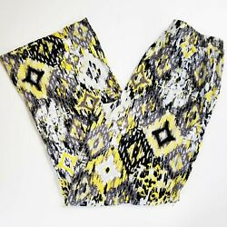 D&CO Beach Ladies Lounge Pants Yellow and Gray Size S EUC $11.99