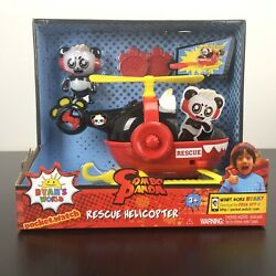 Jada Toys Ryan#x27;s World Helicopter with Combo Panda Figure 6quot; NEW $21.95