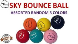 3 SKY BOUNCE ASSORTED RANDOM COLOR HAND BALLS RACKET BALL RACQUETBALL TAIWAN $7.95