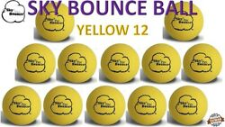 12 SKY BOUNCE YELLOW COLOR HAND BALLS RACKET BALL RACQUETBALL TAIWAN $17.95