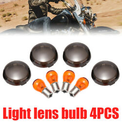 Smoked Turn Signal Light Cover Lens Amber Bulb fit for Harley Davidson Classic $8.99