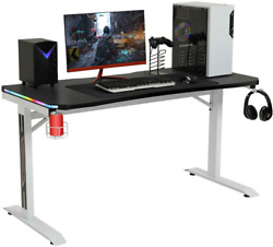 Home Office Computer Desk Laptop Study Table W Power Strip & Headphone Hook US $149.91