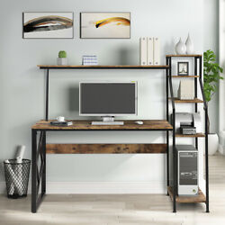 5Tier Bookshelves Computer Desk with Hutch Shelf Writing Study Table Home Office $214.99