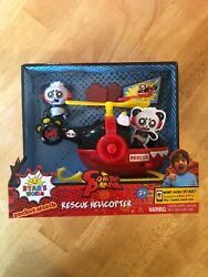 Jada Toys Ryan#x27;s World Helicopter with Combo Panda Figure 6quot; Feature Vehicle Red $22.00
