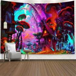 Trippy Forest Tapestry Psychedelic Wall Hanging Bedspread Home Decor Tapestries $17.38
