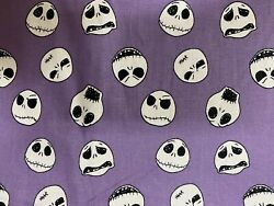 Nightmare Before Christmas Purple Jack 100% Cotton Fabric By The 14 Yard 9x44 $6.50