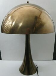 Mid century modern vintage Bronze copper color Laurel mushroom 3 way lamp MCM $6.99
