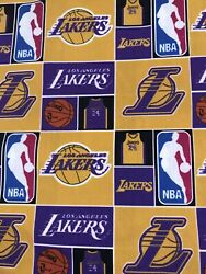 LA Lakers Cotton Fabric # 24 Kobe Bryant 14Yard 9 X 44. SHIPS  TODAY $24.00