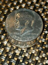 LEONORE DOSKOW PILLBOX Kennedy Bicentennial Half Dollars Real Coin Artist Signed $59.99