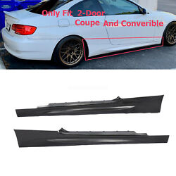 M3 Style Side Skirt For BMW 3 Series E92 E93 2007 2013 Coupe Convertible $100.64