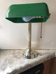 Bankers Desk Lamp Unmarked With Plastic Globe Working $12.00