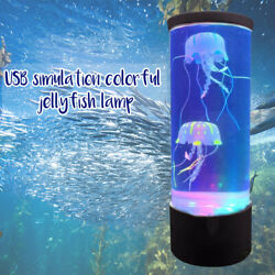 LED Night Light Fantasy Bedside USB Charging Hypnotic Jellyfish Color Changing $26.77
