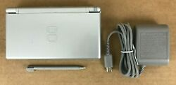Nintendo DS Lite Handheld System Console Silver w Charger & Stylus - Tested $54.99