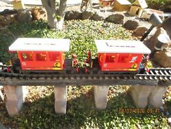 2 Playmobil Red passenger train cars G scale 4117 $75.00
