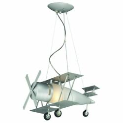 Airplane Ceiling Lights Eco Friendly Frosted Glass Steel Pendant Fixture $273.85