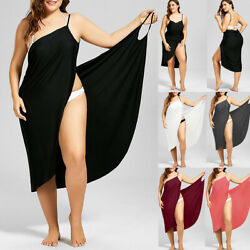 Women Swimwear Beachwear Bikini Cover Up Wrap Sarong Sling Maxi Dress Plus Size $15.67