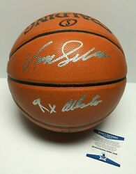 Dominique Wilkins Signed Spalding Game Ball Series Basketball quot;9x All Starquot; BAS $149.96