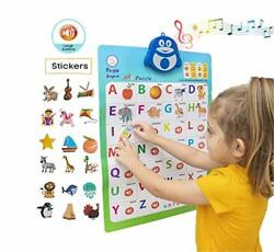 2 in 1 Interactive Alphabet Poster for Kids Classroom ABC Posters Wall Chart $20.91