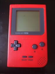 Nintendo Game Boy Pocket Launch Edition Red Handheld System $40.00